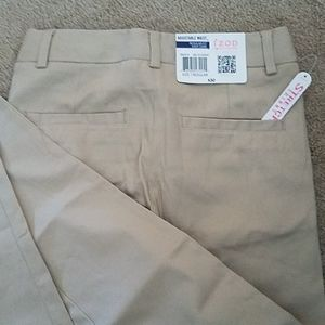 Girls uniform khaki pants